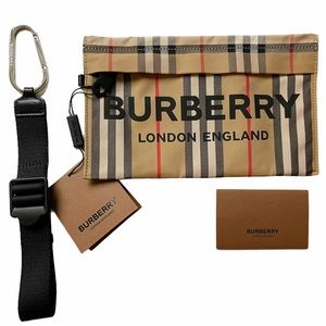 BURBERRY Heritage Print Zip Pouch / Wristlet NWT